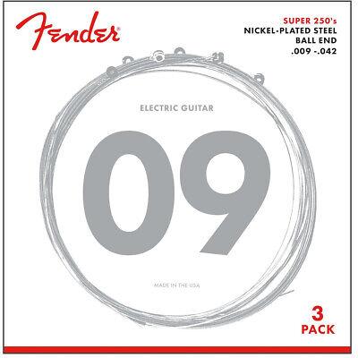 3-SETS of Fender 250L Super 250 Nickel-Plated Steel Light Electric Guitar String