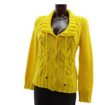Alpaka Grobstrick Strickjacke leuchtend gelb Gr.M CLOSED Kaschmir Jacke online kaufen