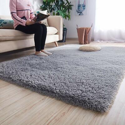 Soft Rugs Indoor Shaggy Plush Area Rug College Dorm Living Room Home Decor Grey