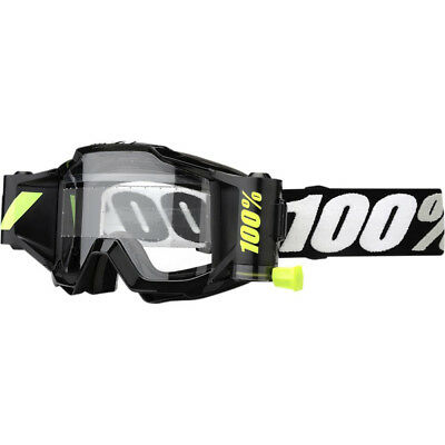 100% Accuri Brille mit FORECAST ROLL OFF SYSTEM SCHWARZ MX Motocross Enduro Quad