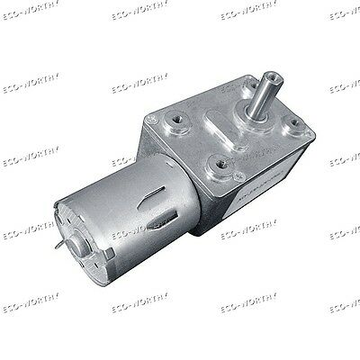 Dc 12v 100 Rpm Shaft High Torque Turbine Worm Geared Motor For Door Opener