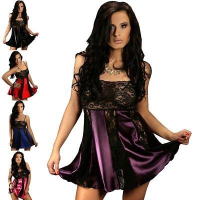 Nine X Women Babydoll Lace & Satin Plus Size Lingerie 10 -24 Nightwear
