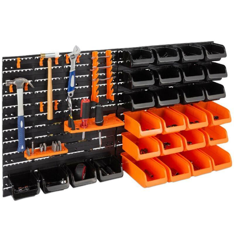 "Wall Mounted Garage Storage Rack Tool Holder Organizer 38 x 21.25"" 44 Piece New"