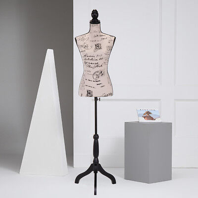 Female Mannequin Torso Clothing Dress Form Display W Beige Tripod Stand New