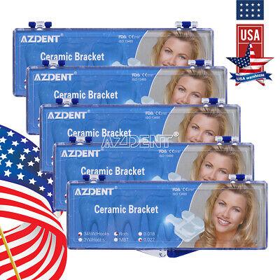 Usa Dental Orthodontic Ceramic Brackets Braces Roth.022 3-4-5 Hooks Azdent
