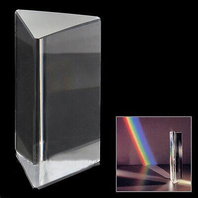 1pc 4optical Glass Triple Triangular Prism Physics Teaching Light Spectrum 10cm