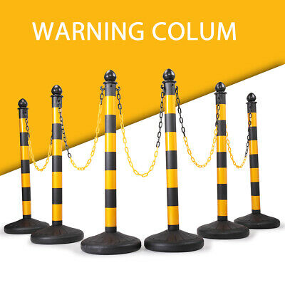 46 Pcs Crowd Control Stanchion Bollards Barrier Post Wchain Parking Traffic