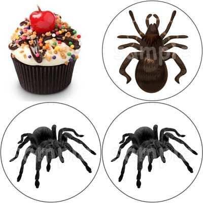 Spinne Halloween eßbar Muffinaufleger Cupcake Tortenaufleger Party Deko Kostüm