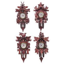 Vintage Cuckoo Clock Forest Quartz Swing Wall Alarm Handmade Room Decor