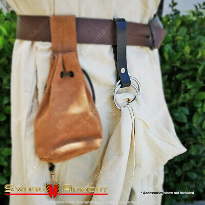 Leather Skirt Chaser Dress Hiker Medieval Renaissance Fair Costume Cloth Hook