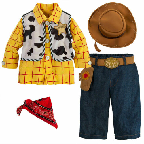 NWT DISNEY STORE SZ 6 12 18 24 Months TOY STORY WOODY BABY COSTUME SET NEW