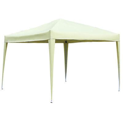 Charles Bentley 3m x 3m Pop Up Garden Patio Gazebo Canopy Marquee - Beige