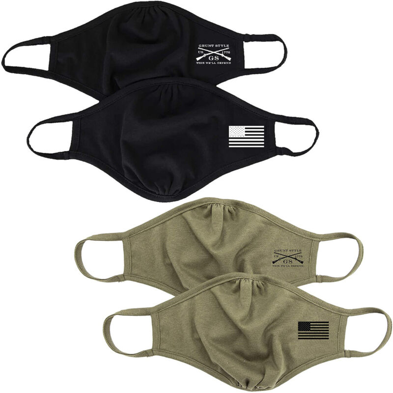 Grunt Style Assaulting Flag Reversible Face Mask - 2-Pack