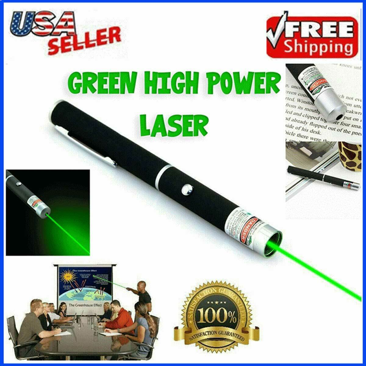 Laser Pointer Pen 532nm Green Lazer Strong 900 Mile 5 m Visible Beam Light USA Business & Industrial