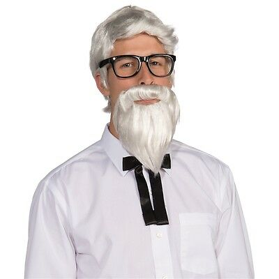 Southern Colonel Wig & Beard Costume Accessory Set Adult Halloween