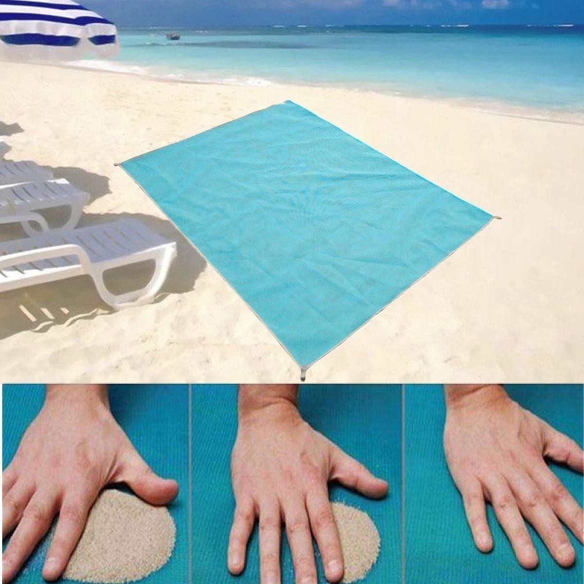 "59"" x 79"" Sand-Free Beach Mats Sand Proof Rug Picnic Blanket"