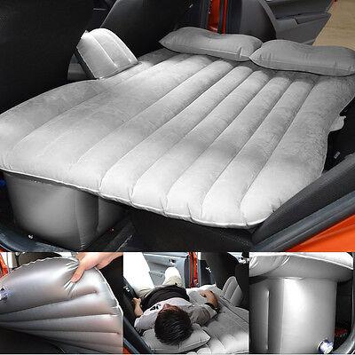 Us Inflatable Air Bed Mattress Travel Camping Seat Sleep Sofa Cushion Bed Gray