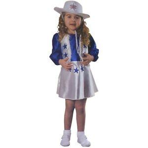 Dallas Cowboy Cheerleader Costume Toddler Kids Halloween Fancy Dress