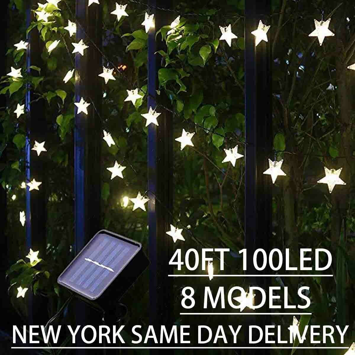 40FT 100LED Solar Power Fairy Lights String Lamps Party Home