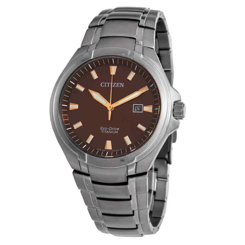 Citizen-Paradigm-Eco-Drive-Titanium-Brown-Dial-Watch-BM7431-51X