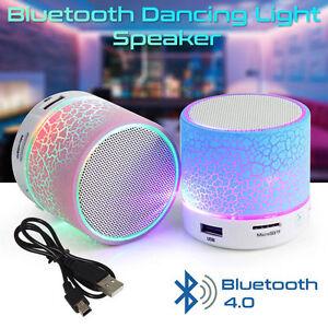 Bluetooth Wireless Mini Portable Speaker Bass for MP3 iPhone iPad + LED Light UK
