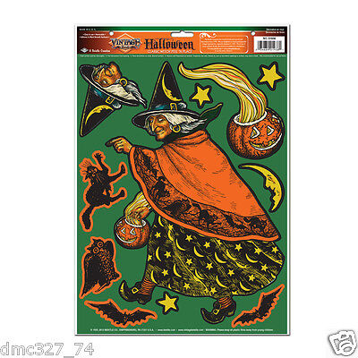 HALLOWEEN Decorations CLASSIC WITCH Beistle Reproduction of 1933 Vintage Artwork - Beistle Vintage Halloween Decorations