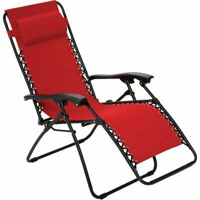 Outdoor Expressions Zero Gravity Relaxer Red Convertible Lounge Chair ZD-A806-R