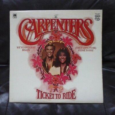"THE CARPENTERS ~ "" Ticket to Ride "" ~ Vinyl LP ( 12-Inch ) 33 RPM."