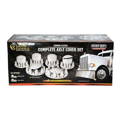 chrome hub cover screw 33mm on grand general truck semi front rear set universal