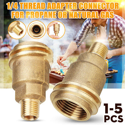 - QCC1 Connection 1/4'' Male Pipe Thread Propane Gas Fitting Adapter Connector US