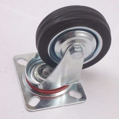 3 Swivel Megadeal Pack 4 Caster Wheels Rubber Base With Top Plate Bearing...
