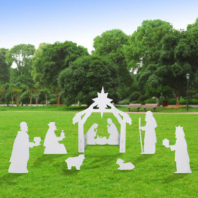 Christmas Superhuman Out of doors Nativity Outlet Nativity Yard Set(Consecrated Household Yard Segment)