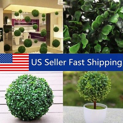 (12-30cm Artifical Green Grass Ball Topiary Hanging Plant Garland Mini Home Decor)