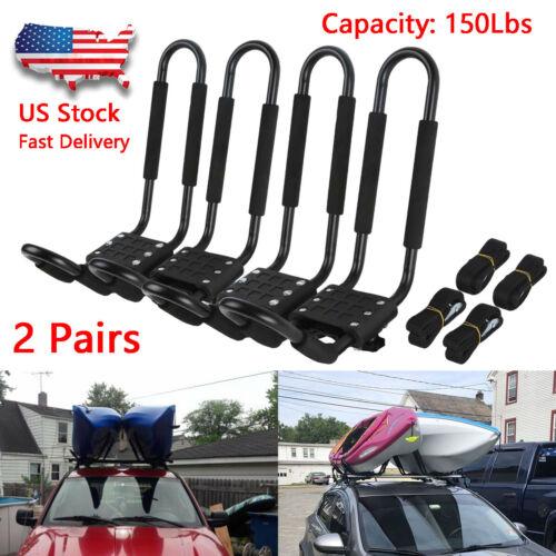 Canoe Carrier for Car Roof Rack J Bars and FS NN Folding Adjustable Kayak