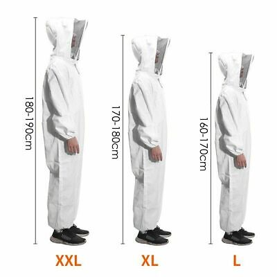 Xl Xxl Xxxl Beekeeper Bee Keeping Suit Jacket Safty Veil Hat Body Equipment Hood