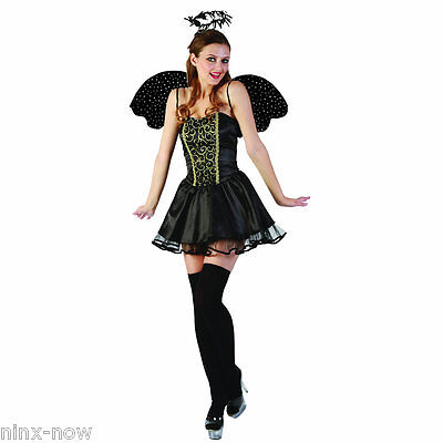 Beautiful Angel Costumes (Fallen Angel Women's Fancy Dress Costume with Halo and Wings)