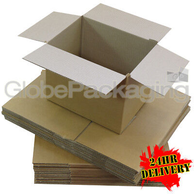 20 x LARGE LOW DEPTH SW CARDBOARD POSTAL BOXES 18x12x3