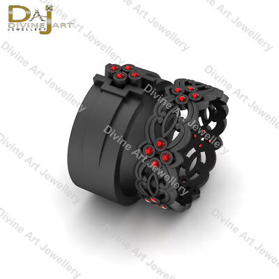 Dark Side Sith Star Wars Inspired Celtic Wedding Band Set His Hers Promise Rings