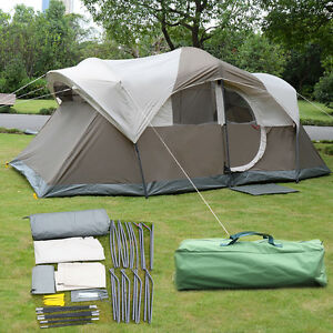 10 Person Waterproof C&ing Tent Double Layer Family Outdoor Hiking W/Carry Bag & 10 Person Tent | eBay