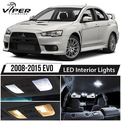 2008-2015 Mitsubishi Lancer Evo X White LED Interior Lights Package -