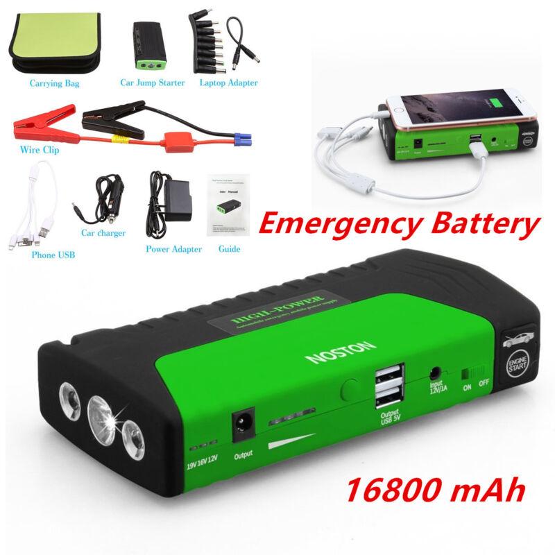 SOS LED Light 16800mA Car Jump Starter Charger Emergency Battery Power Bank 12V
