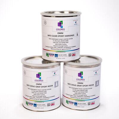 Light Gray Epoxy Resin 100 Solids For Garage Floorplywood Concrete.3 Gal Kit