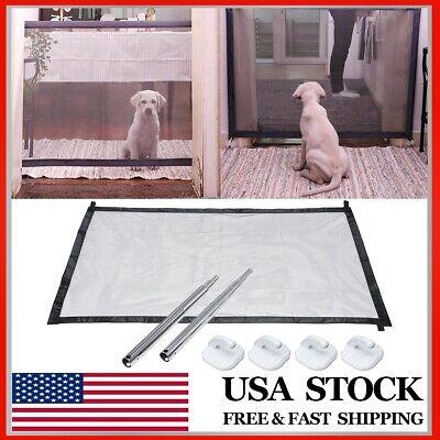 Pet Dog Mesh Net Gate Safe Guard Install Anywhere Safety Enclosure Barrier US ❤ Mesh Pet Gate