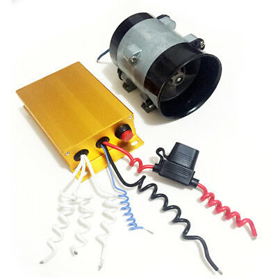 12V Car Electric Turbine Power Turbo Charger Bold Lines w/ Automatic Controller