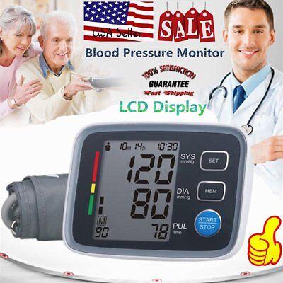 Digital Arm Blood Pressure Monitor Automatic BP Cuff Machine Gauge Test BT#