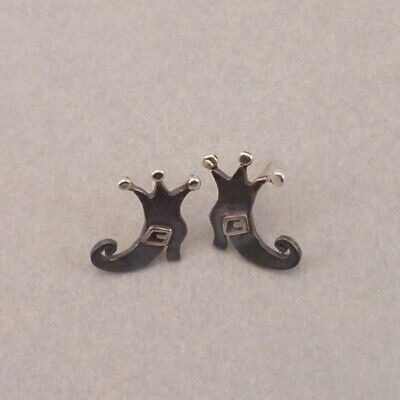 Halloween Witches Boots Ear Stud Earrings Autumn Jewelry Funny Cool Gift Idea](Funny Female Halloween Ideas)
