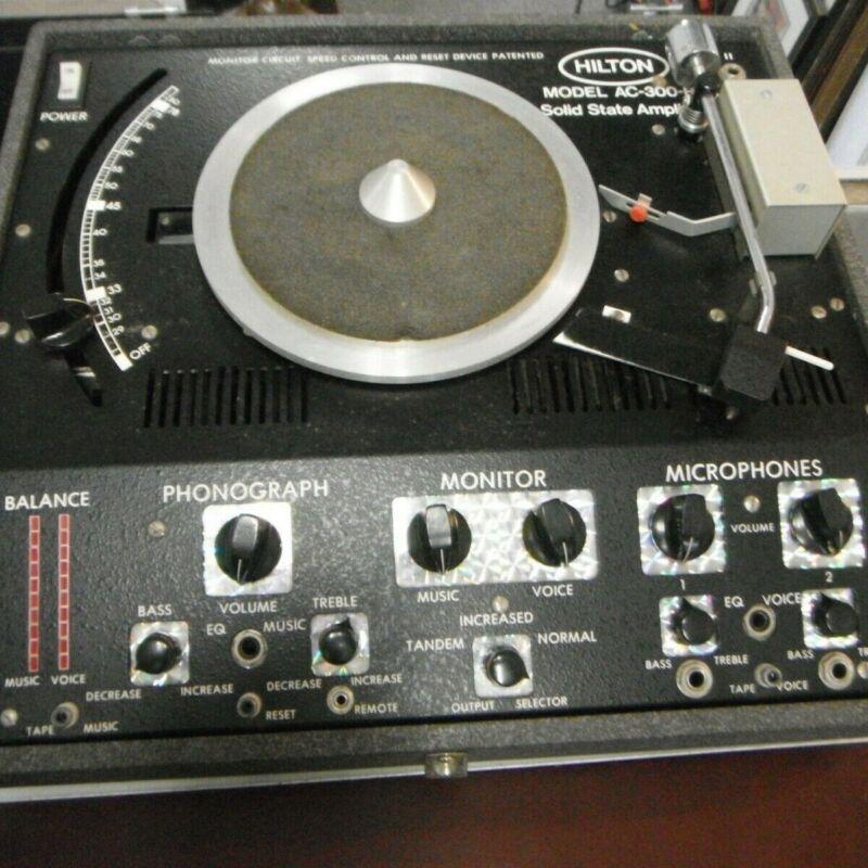 Vintage Hilton AC-300-B Turntable