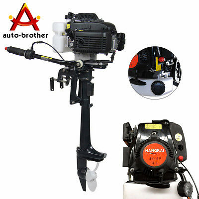 4 Stroke Outboard Engines (4 Stroke 4 HP Outboard Motor With Air Cooling System 44CC Boat Engine)