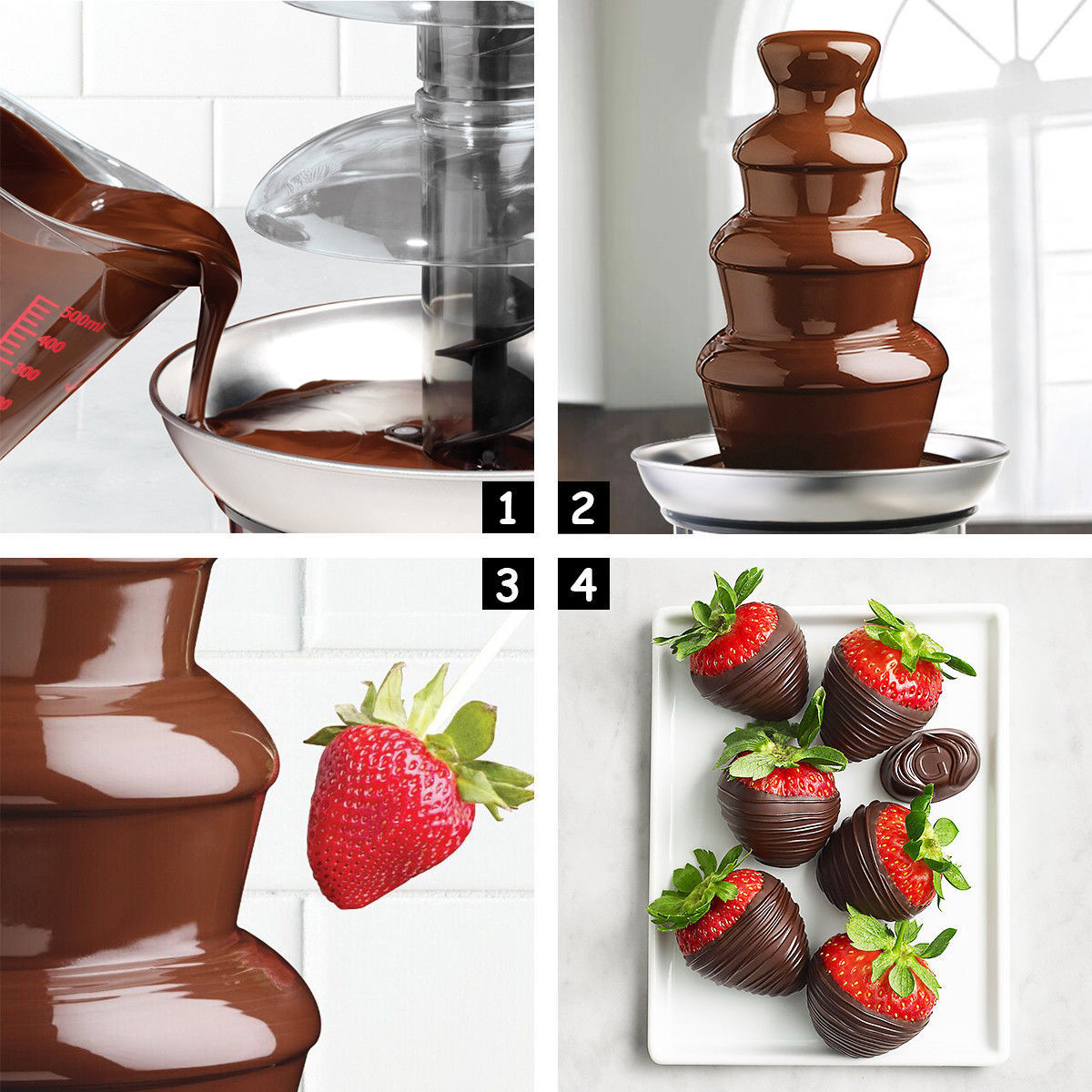 Stainless Steel Commercial Hot Chocolate Fondue Party Weddin