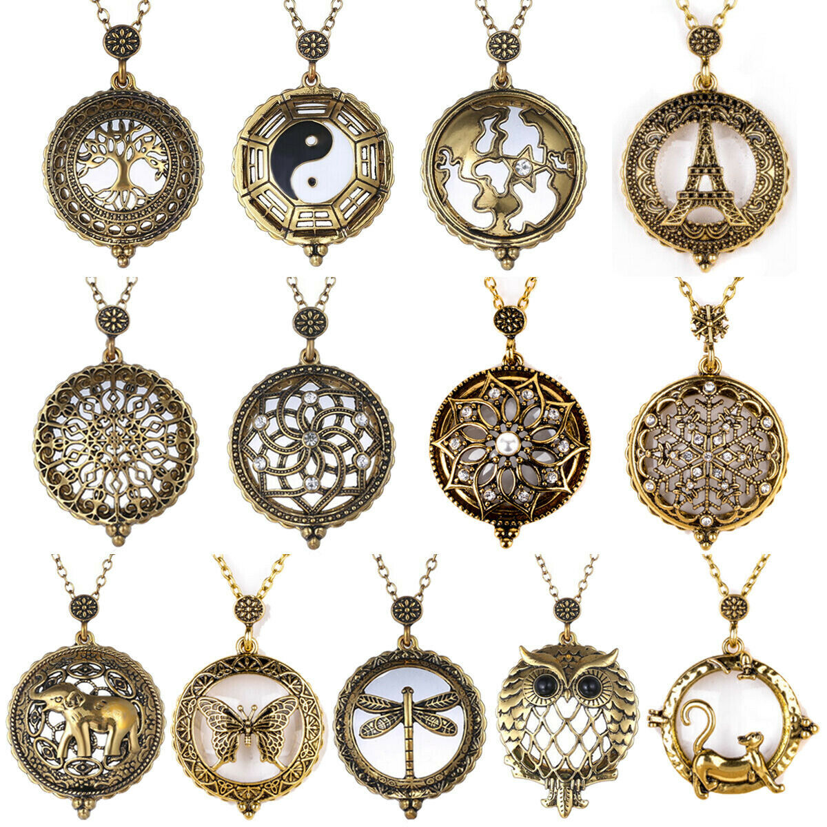 Jewellery - Vintage Chain 5X Magnifying Glass Reading Sweater Necklace Magnifier Pendant